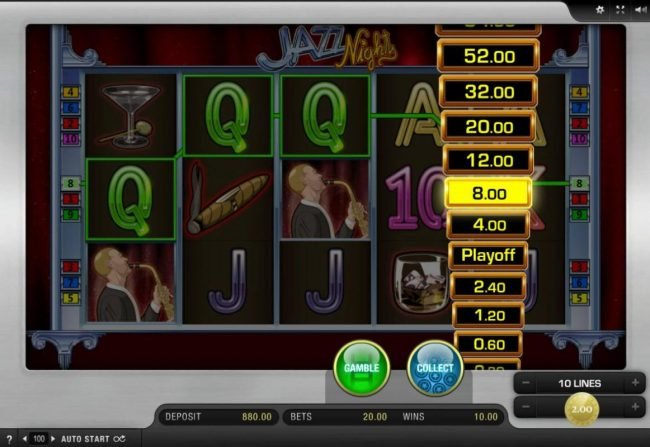 Jazz Nights :: Ladder Gamble Feature Game Board available after every winning spin.