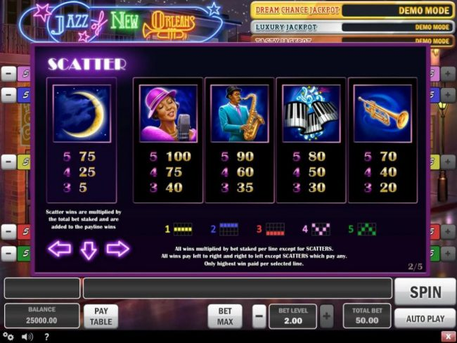 Casino Mate featuring the Video Slots Jazz of New Orleans with a maximum payout of $150,000