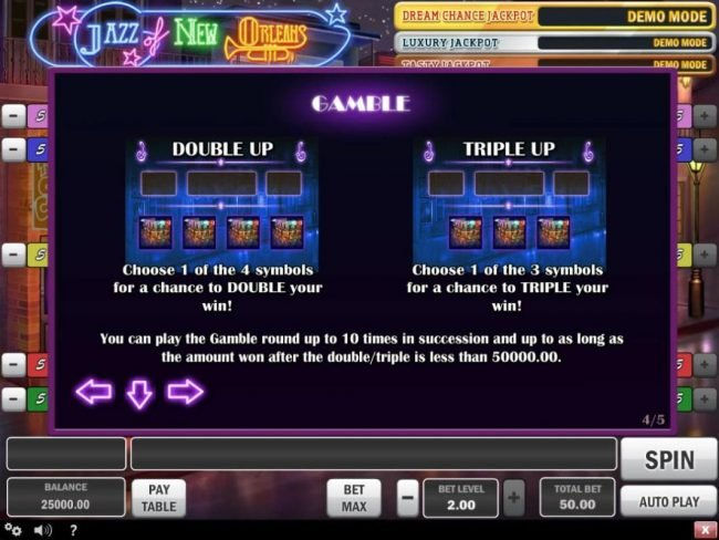 Play slots at Casinia: Casinia featuring the Video Slots Jazz of New Orleans with a maximum payout of $150,000