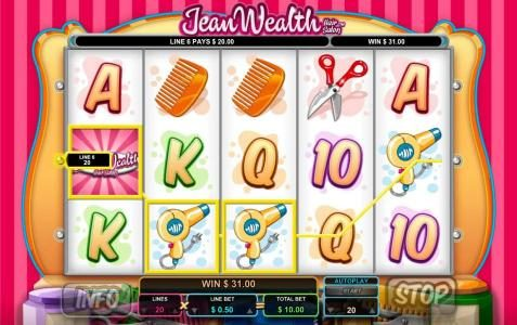 Conquer featuring the Video Slots Jean Wealth with a maximum payout of $50,000