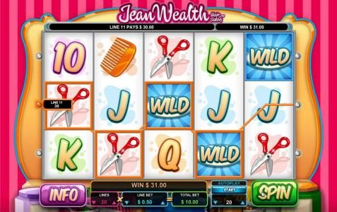 Stan James featuring the Video Slots Jean Wealth with a maximum payout of $50,000