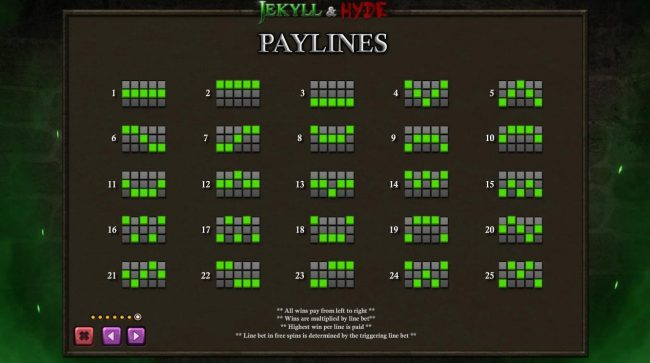 Slots Heaven featuring the Video Slots Jekyll & Hyde with a maximum payout of $125,000