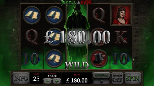 Vegas Red featuring the Video Slots Jekyll & Hyde with a maximum payout of $125,000