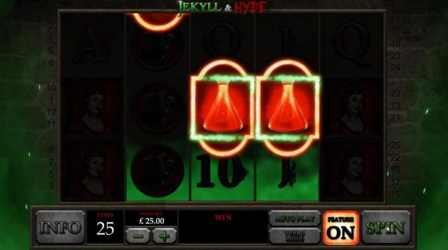 Jekyll & Hyde :: Feature Enabled - three scatter symbols triggers the free spins feature.