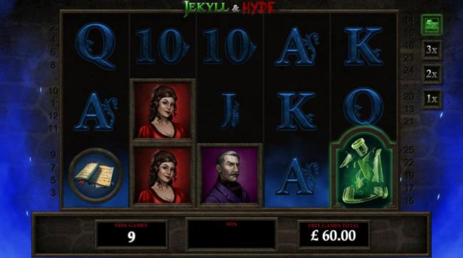 50 Stars featuring the Video Slots Jekyll & Hyde with a maximum payout of $125,000