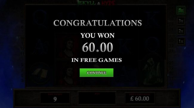 Jekyll & Hyde :: Free Games pays out a total of 60.00