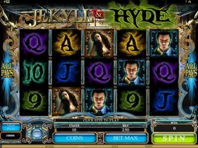 Play slots at Casino Mate: Casino Mate featuring the Video Slots Jekyll & Hyde with a maximum payout of $18,750