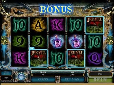 Piggs featuring the Video Slots Jekyll & Hyde with a maximum payout of $18,750