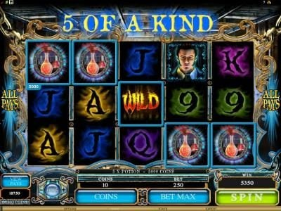 Blackjack Ballroom featuring the Video Slots Jekyll & Hyde with a maximum payout of $18,750
