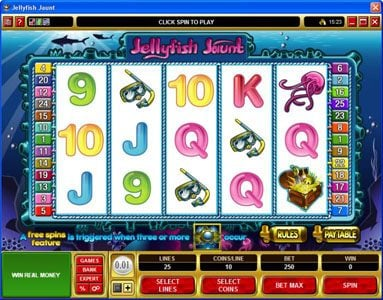 Play slots at Spin Palace: Spin Palace featuring the Video Slots Jellyfish Jaunt with a maximum payout of $45,000