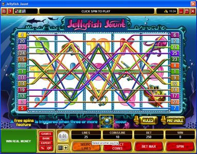 King Neptunes featuring the Video Slots Jellyfish Jaunt with a maximum payout of $45,000