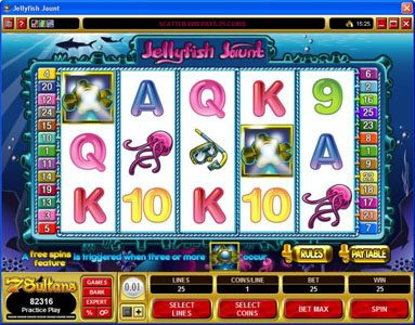Win Paradise featuring the Video Slots Jellyfish Jaunt with a maximum payout of $45,000