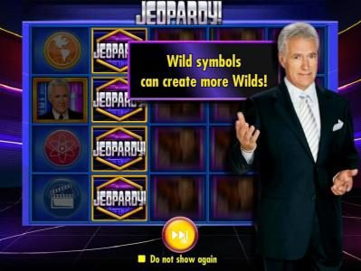 Jeopardy! :: wild symbols can create more wilds!