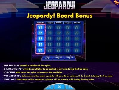 Jeopardy! :: How to play the Jeopardy! Board Bonus Game and rules