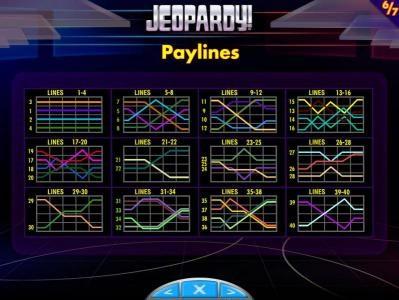 Jeopardy! :: Payline Diagrams 1-40