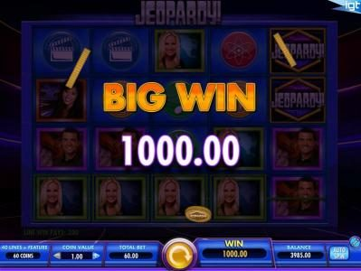 Jeopardy! :: A 1000.00 big win triggered by a five of a kind