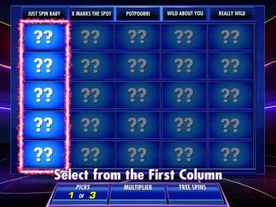 Jeopardy! :: With your available picks you make selections from each column until your picks are used.