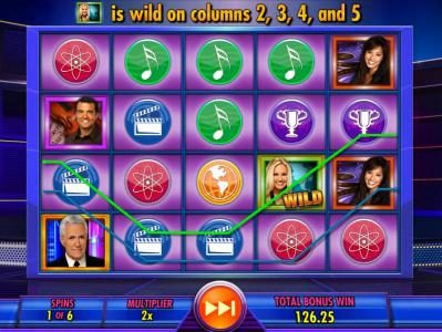 Jeopardy! :: Multiple winning paylines triggered during the free spins bonus feature