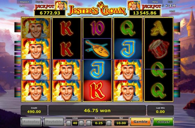 Jester's Crown :: Multiple winning paylines.