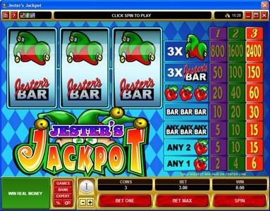 Play slots at Cinema: Cinema featuring the video-Slots Jester's Jackpot with a maximum payout of $36,000