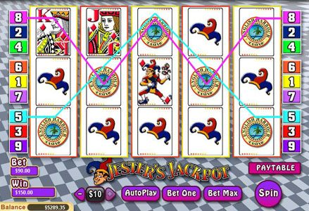 Red Stag featuring the Video Slots Jester's Jackpot with a maximum payout of $25,000