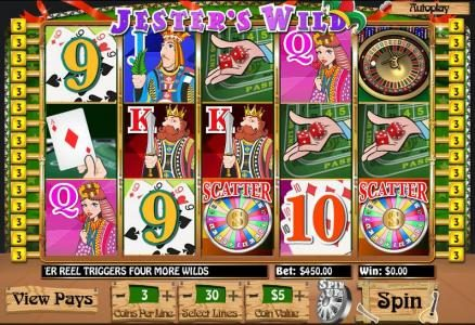 Red Stag featuring the Video Slots Jester's Wild with a maximum payout of $20,000
