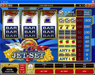 Captain Cooks featuring the Video Slots Jet Set with a maximum payout of $16,000