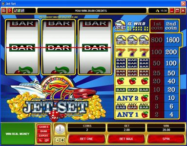 Play slots at Casino Share: Casino Share featuring the Video Slots Jet Set with a maximum payout of $16,000