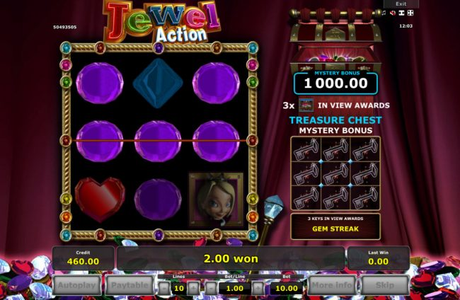 Jewel Action :: Multiple winning paylines