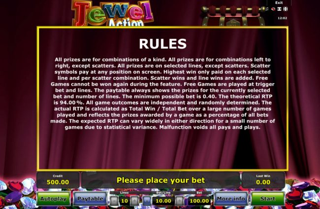Jewel Action :: General Game Rules