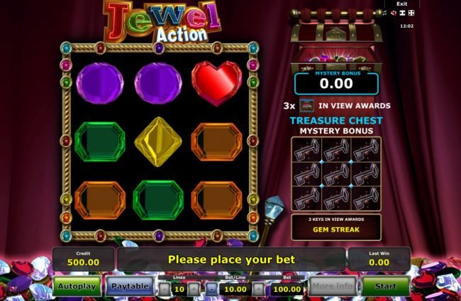 Jewel Action :: Main Game Board