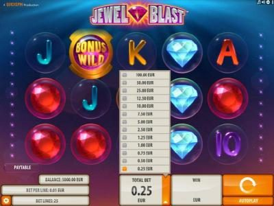 Casumo featuring the Video Slots Jewel Blast with a maximum payout of $50,000