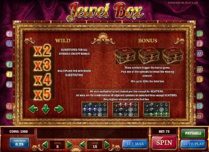 wild and bonus game rules