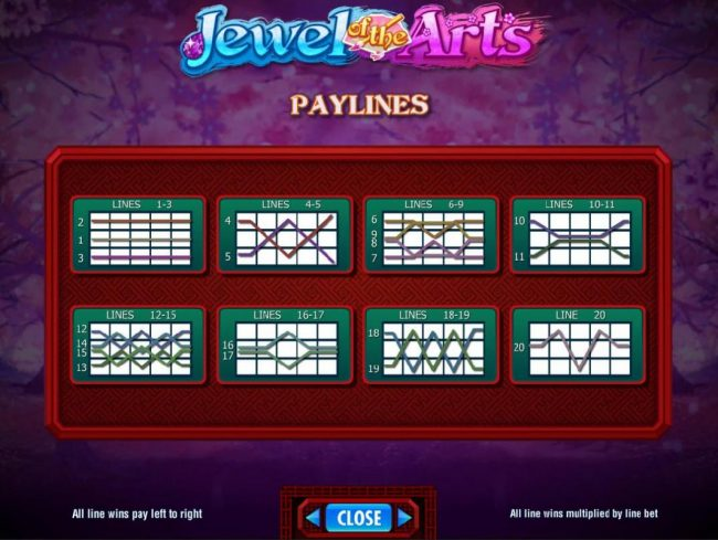 Sun Play featuring the Video Slots Jewel of the Arts with a maximum payout of $250,000