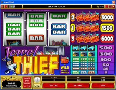 Play slots at Slots Magic: Slots Magic featuring the Video Slots Jewel Thief with a maximum payout of $30,000