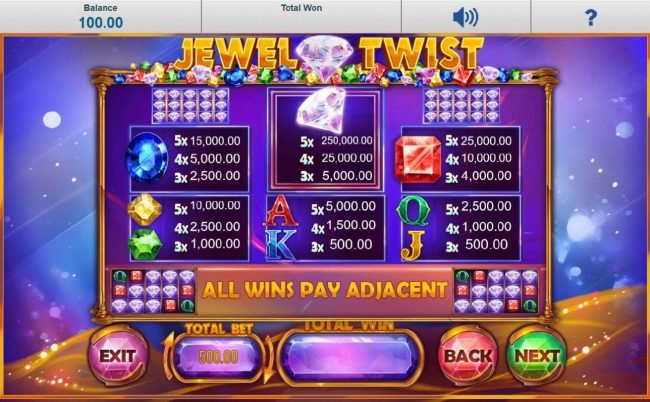 Sun Play featuring the Video Slots Jewel Twist with a maximum payout of $250,000