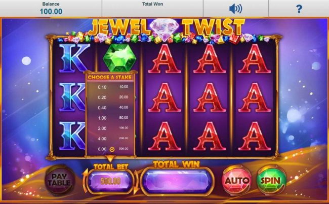 Karl Casino featuring the Video Slots Jewel Twist with a maximum payout of $250,000