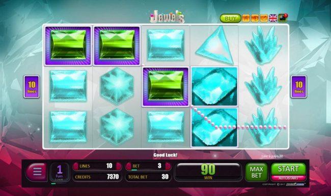 Jewels :: Multiple winning paylines