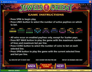 Casino Red Kings featuring the Video Slots Jewels of the Orient with a maximum payout of $62,500