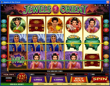 Casdep featuring the Video Slots Jewels of the Orient with a maximum payout of $62,500