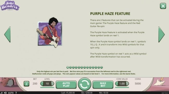 Orientxpress featuring the Video Slots Jimi Hendrix with a maximum payout of $80,000