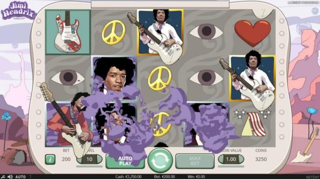 Chomp featuring the Video Slots Jimi Hendrix with a maximum payout of $80,000