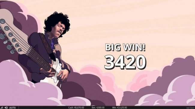Llama Casino featuring the Video Slots Jimi Hendrix with a maximum payout of $80,000