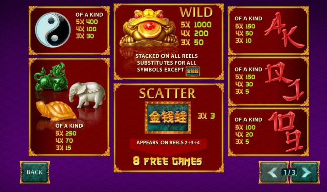 Betfair featuring the Video Slots Jin Qian Wa with a maximum payout of $50,000