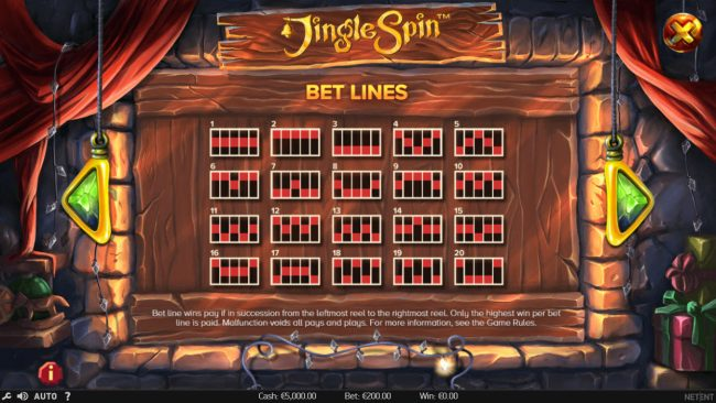 Play slots at X-Bet: X-Bet featuring the Video Slots Jingle Spins with a maximum payout of $94,750