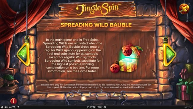 14 Red Casino featuring the Video Slots Jingle Spins with a maximum payout of $94,750