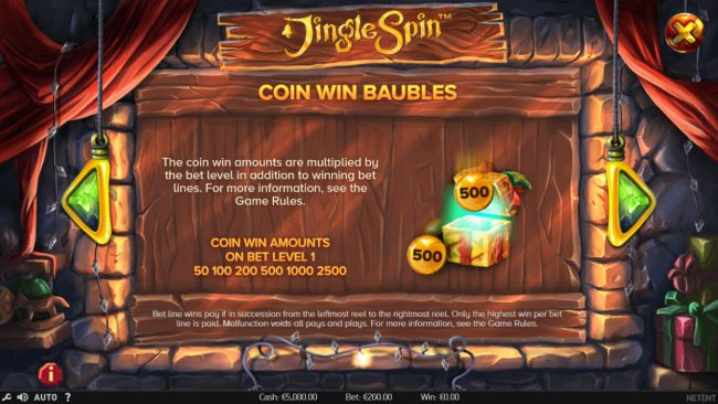 Play Hippo featuring the Video Slots Jingle Spins with a maximum payout of $94,750