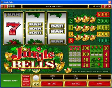 Colosseum featuring the Video Slots Jingle Bells with a maximum payout of $30,000