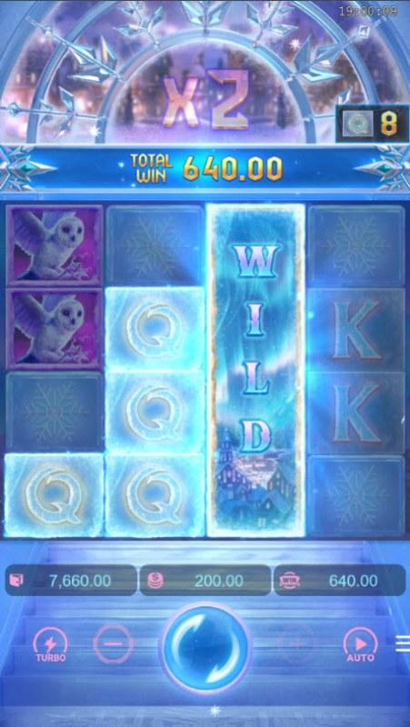 Jack Frost's Winter Infinity Reels :: X2 multiplier achieved