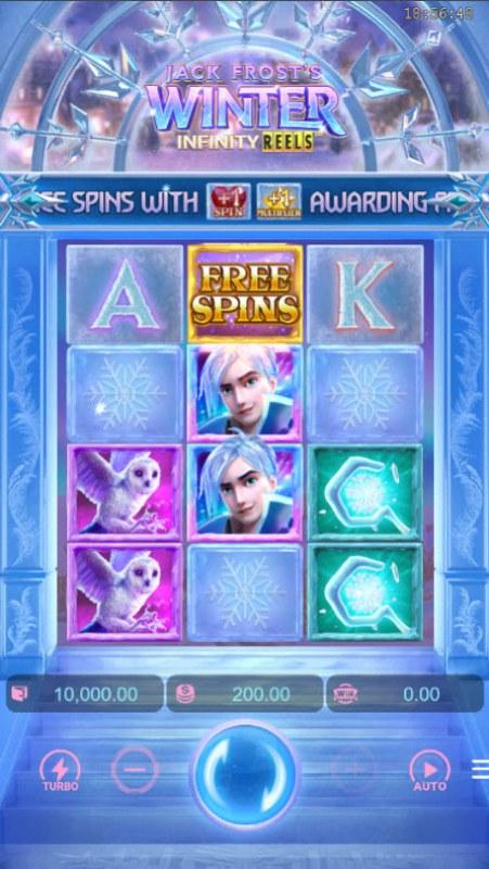 Jack Frost's Winter Infinity Reels :: Main Game Board